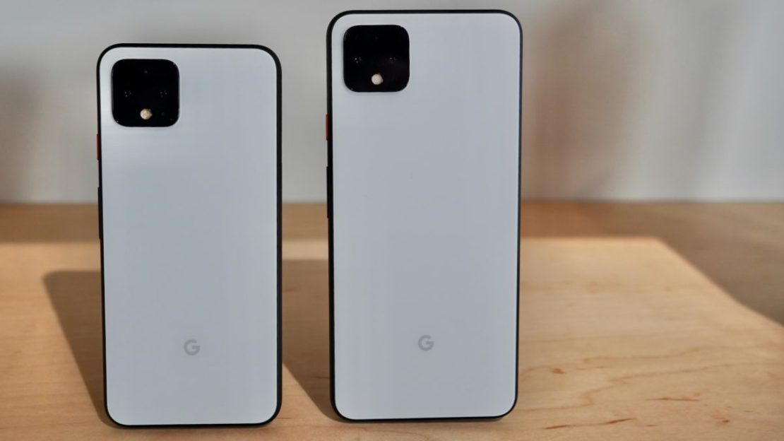 Google Pixel 4 white with XL