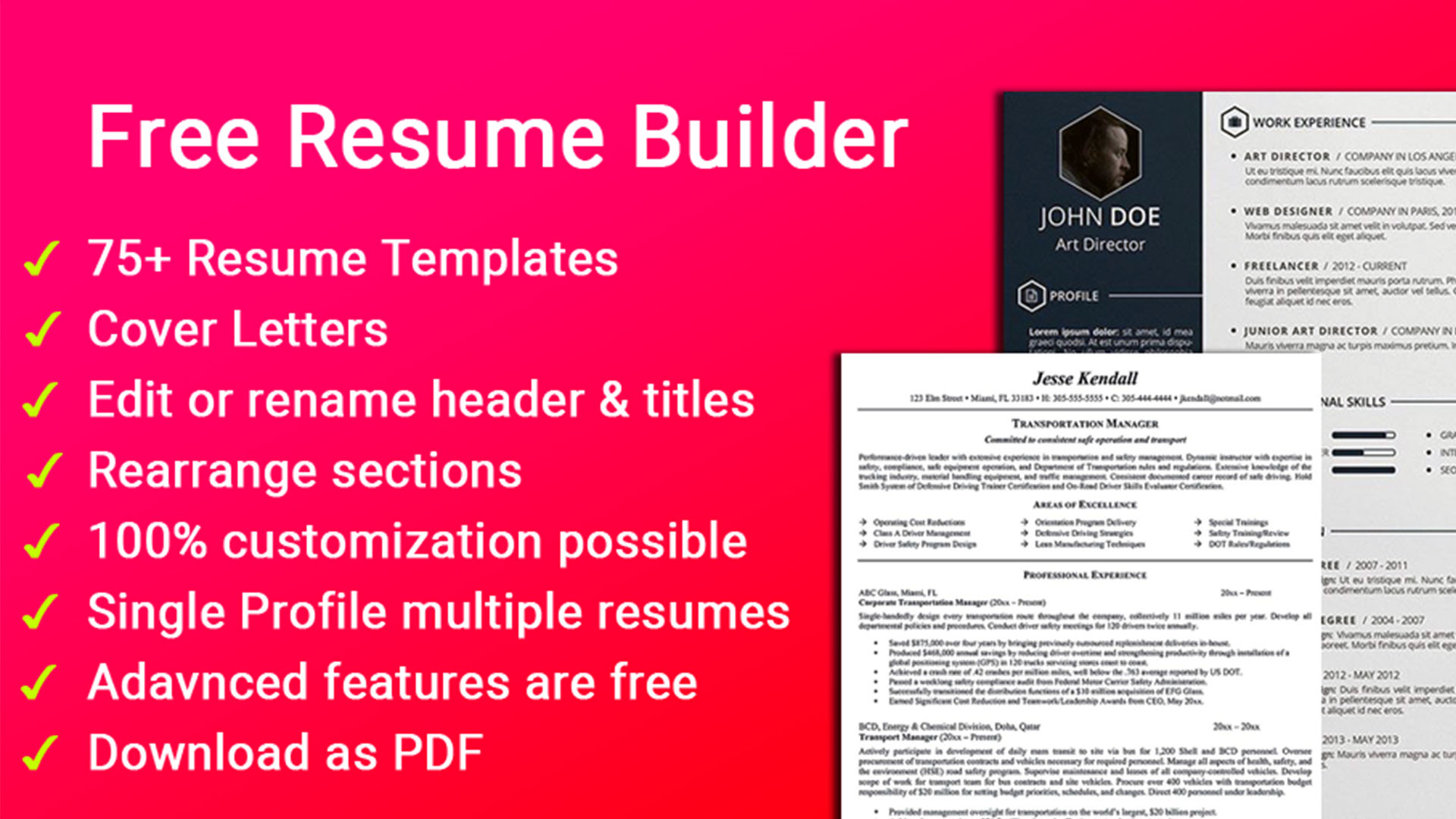 Create the perfect job application with our resume cover letter templates. 10 Best Resume Builder Apps For Android Android Authority