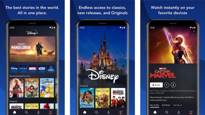 Captura de pantalla de Disney Plus para las mejores aplicaciones nuevas de Android