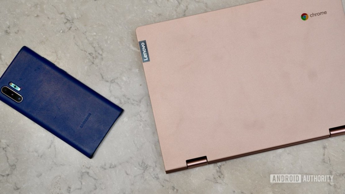 Lenovo Chromebook C340 review with phone for scale