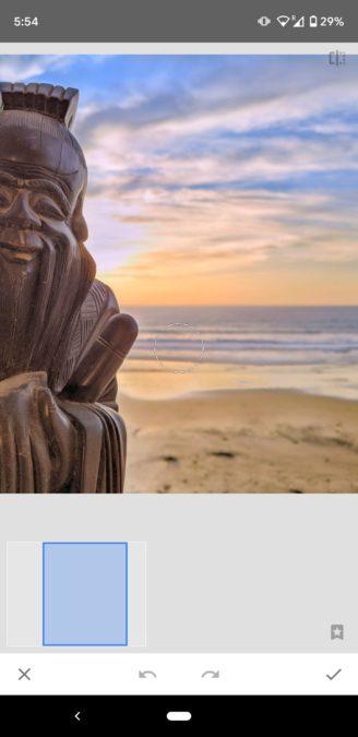 Снимки экрана Snapseed Healing 1