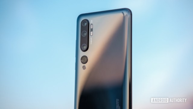 Xiaomi Mi Note 10 back of the device outside