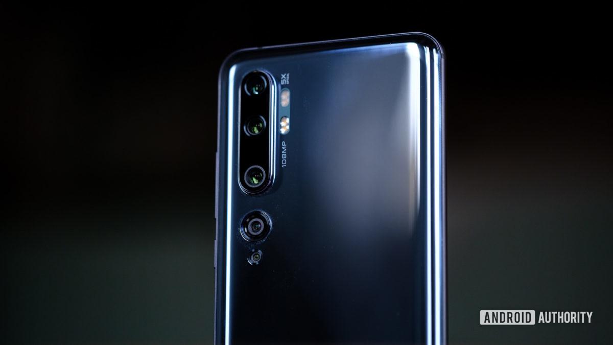 Câmeras Xiaomi Mi Note 10