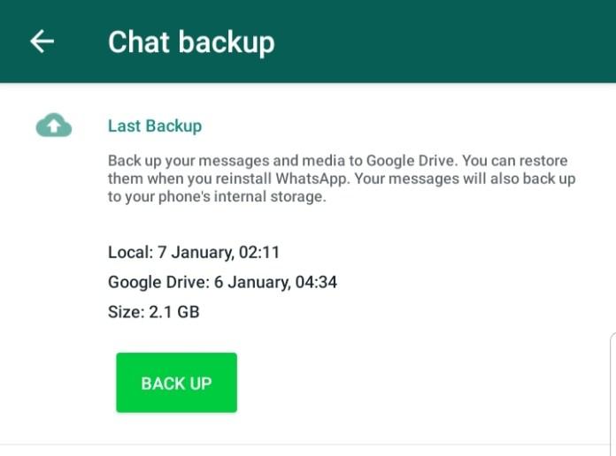 Recuperación de datos de Android WhatsApp Backup