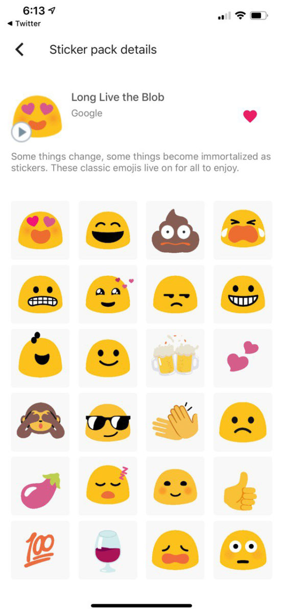 Long Live the Blob GBoard sticker pack