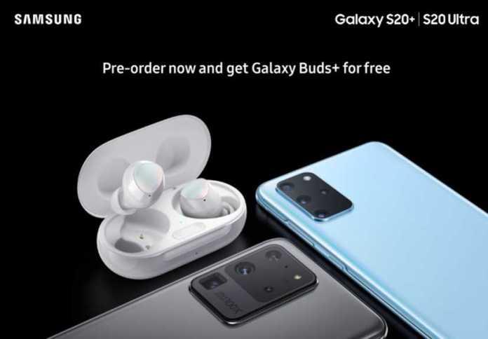 Bono de pedido de Samsung Galaxy S20
