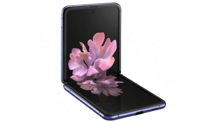 Samsung Galaxy Z Flip Leaked Render Unfolded