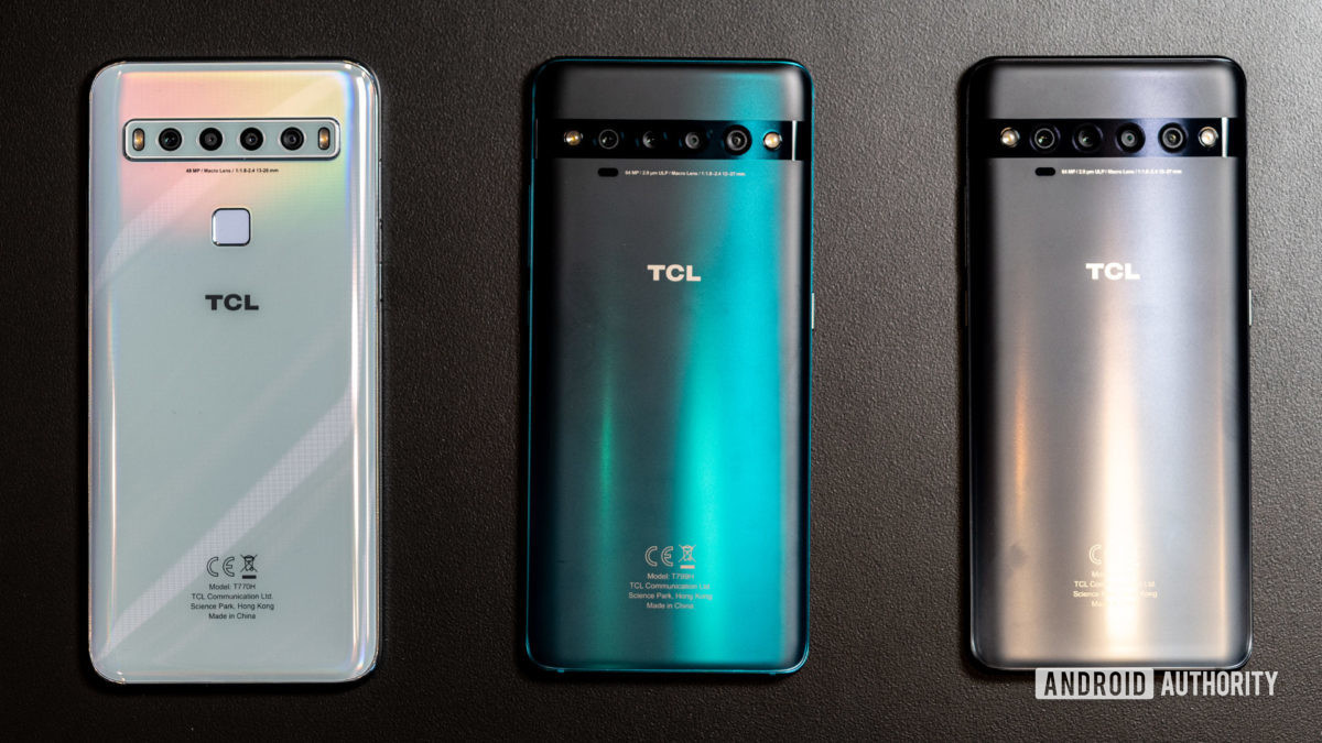 Os telefones da série TCL 10.