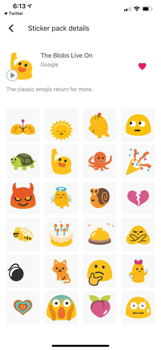 The Blobs Live On GBoard sticker pack