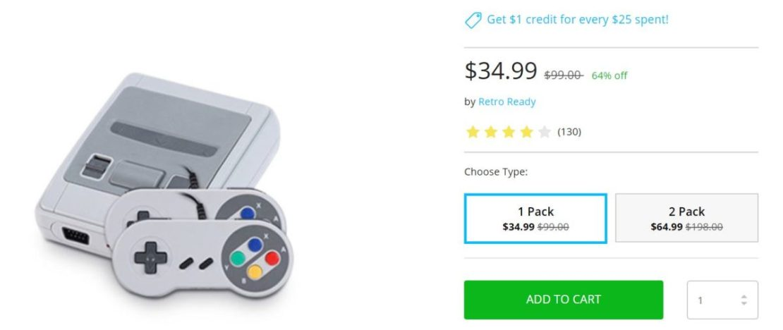 Throwback Gaming Console Deal