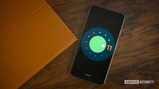 Android 11 logo stock photo 5