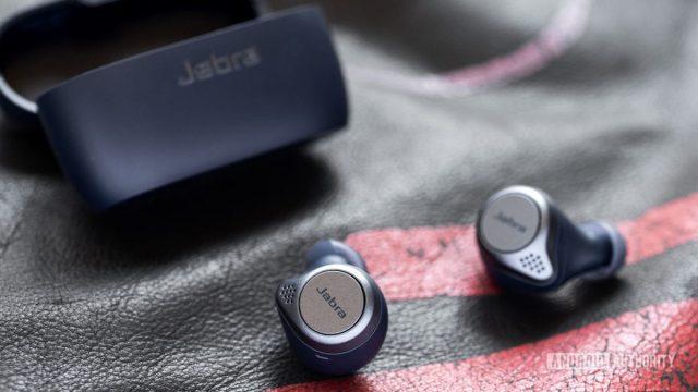 Jabra Elite Active 75t true wireless workout earbuds case