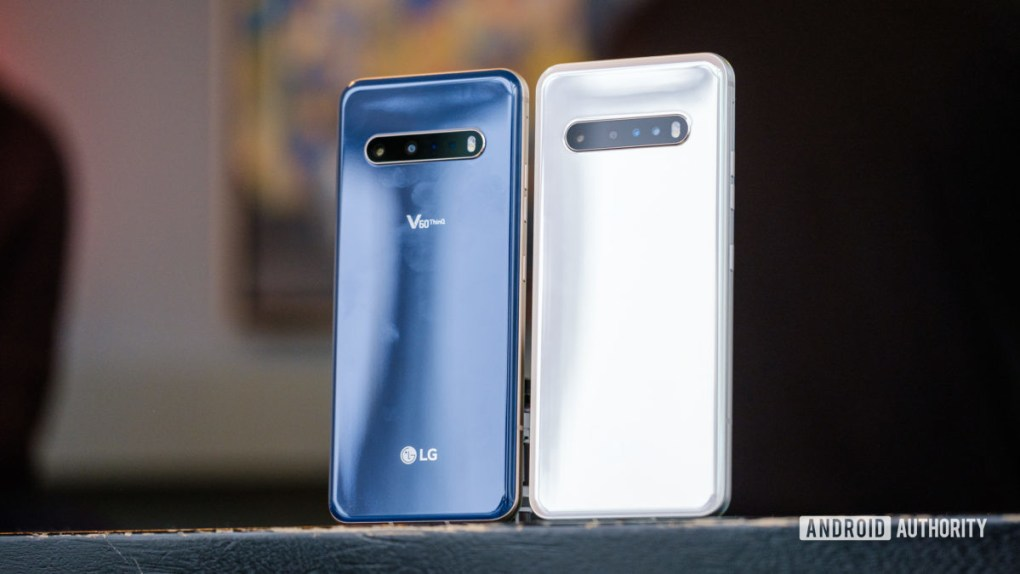 LG V60 both colors from the back 3