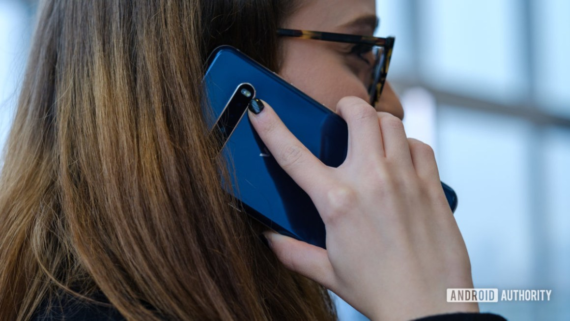 LG V60 делает звонок