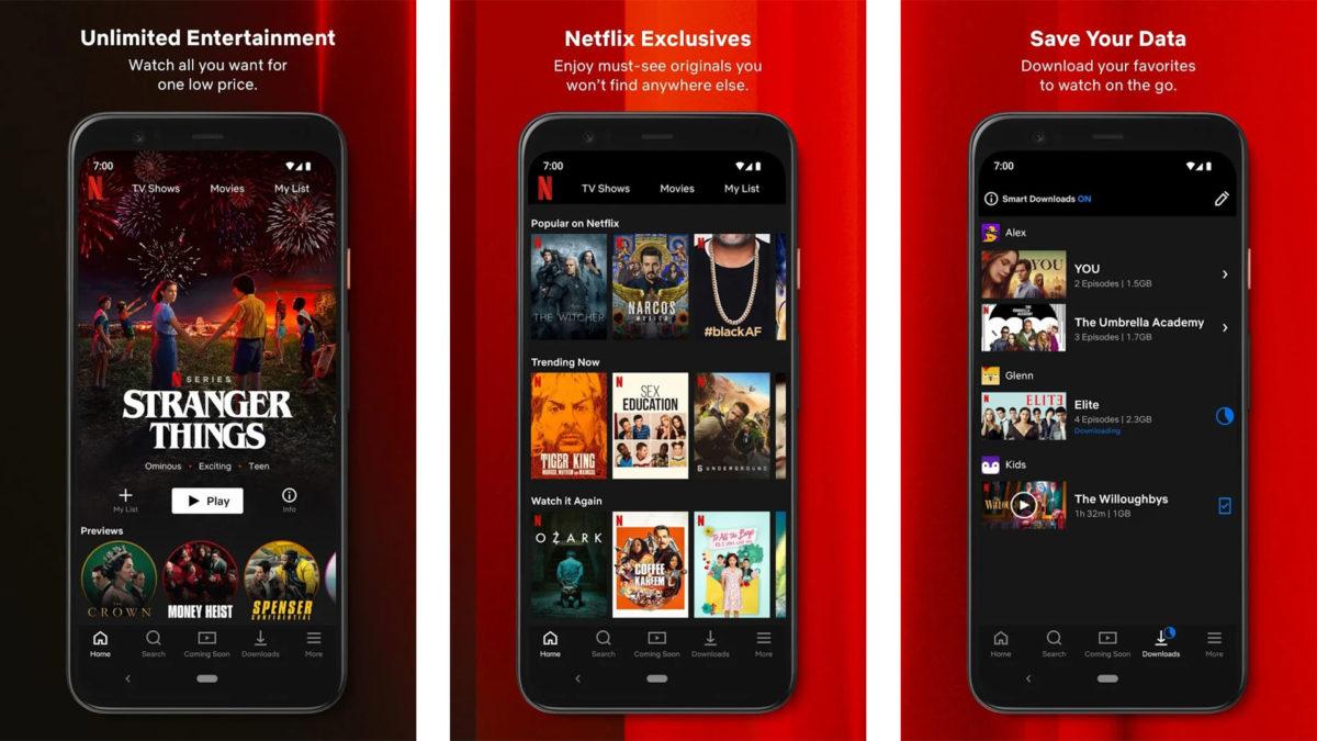 Netflix screenshot 2020