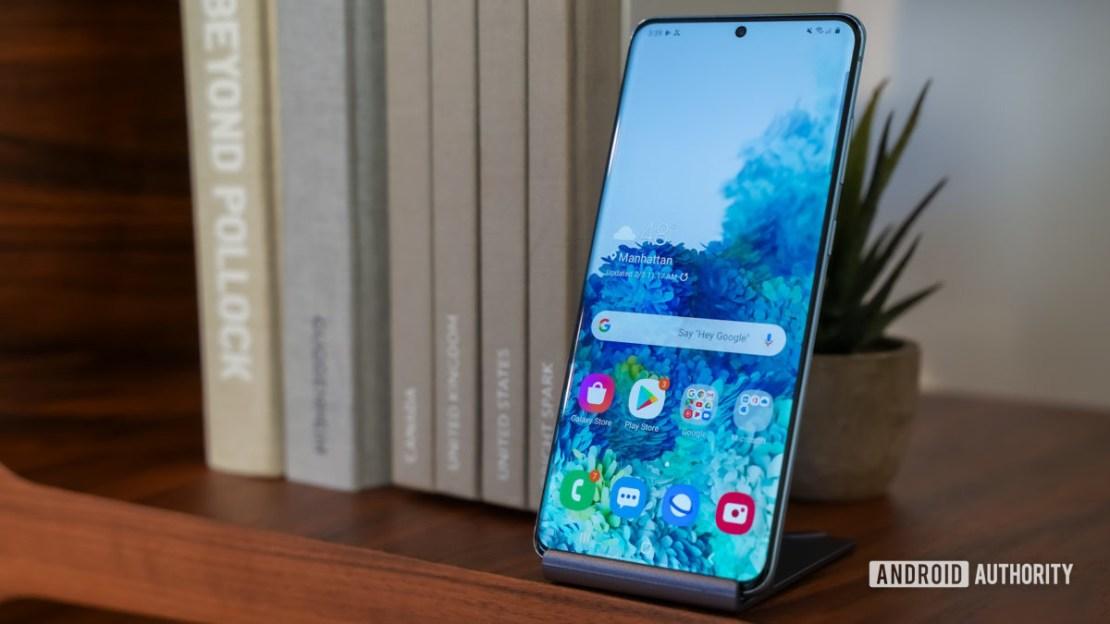 Samsung Galaxy S20 Plus front profile