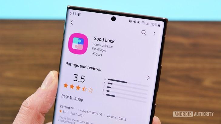 Samsung Good Lock Galaxy Store listing