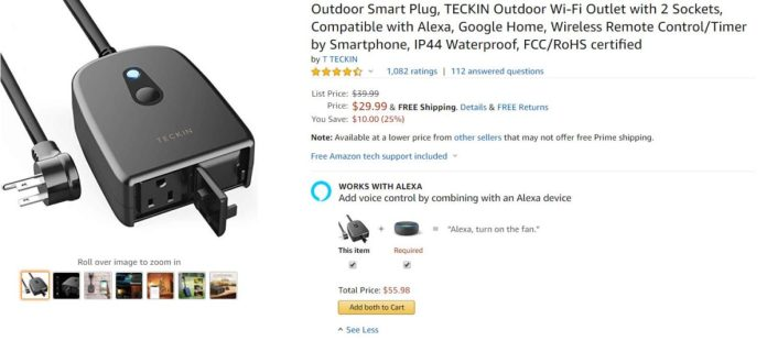 Teckin Waterproof Smart Outlet
