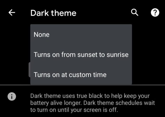 Android 11 adds new custom timing dark theme feature (Updated) - Android Authority
