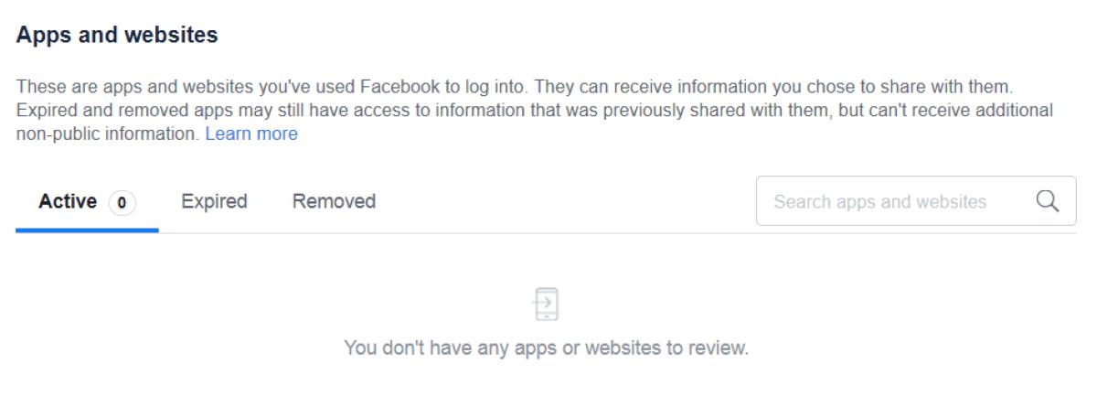 настройки конфиденциальности приложений и веб-сайтов facebook