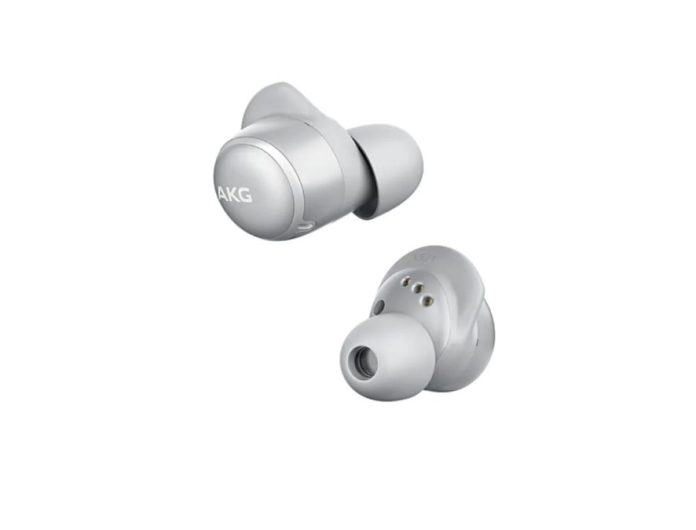 AKG N400 silver noise cancelling true wireless earbuds product image 1