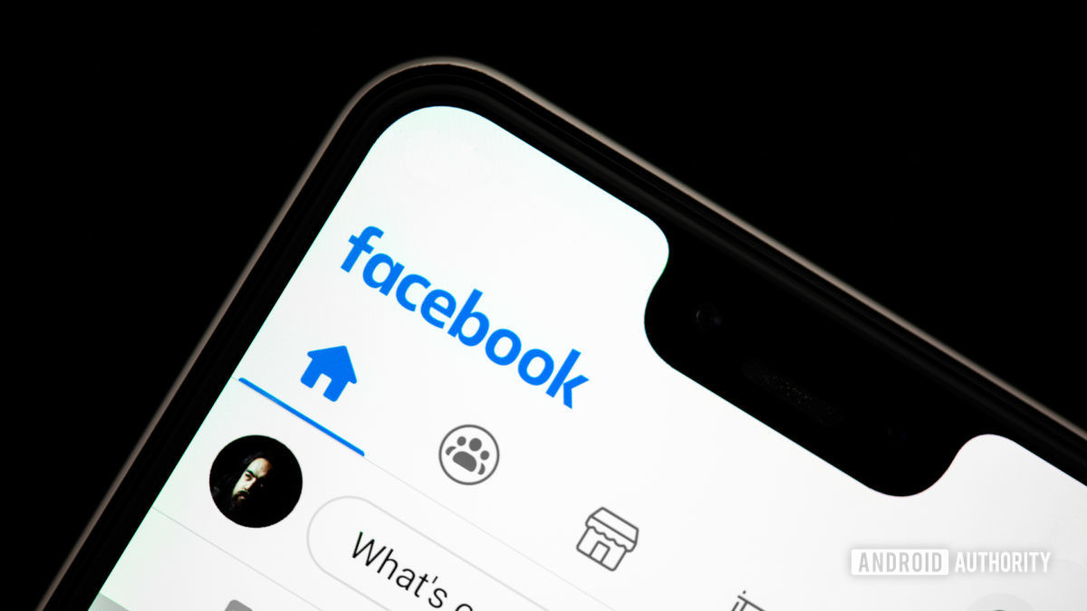Facebook app on phone 3