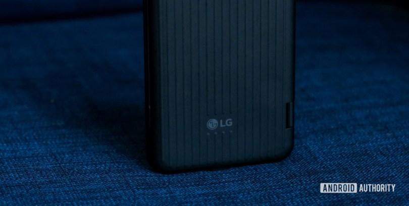 LG V60 dual screen back logo macro