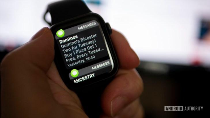 Notifications on Apple Watch Series 5