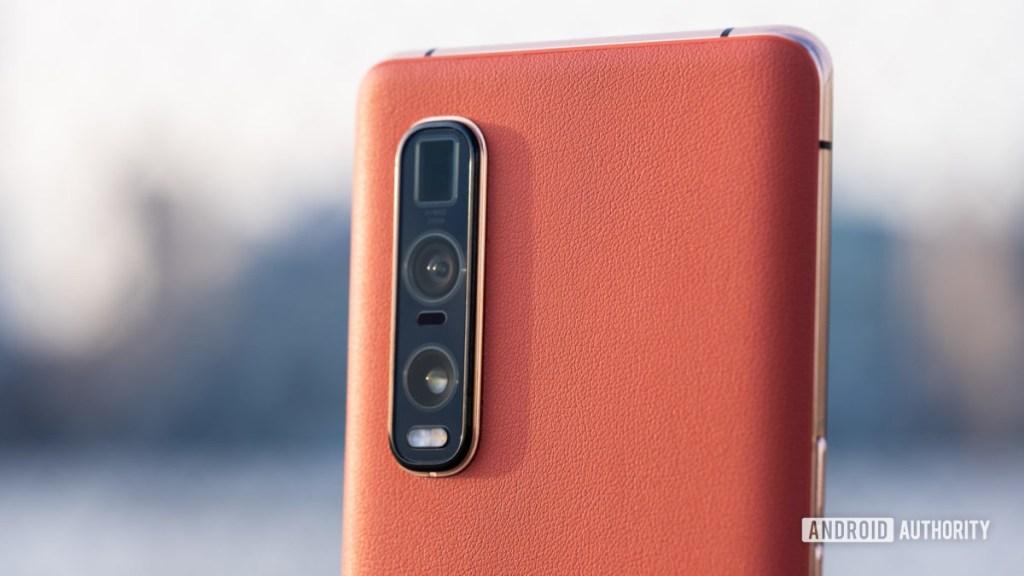 Макрос задней камеры Oppo Find X2 Pro - размер датчика камеры