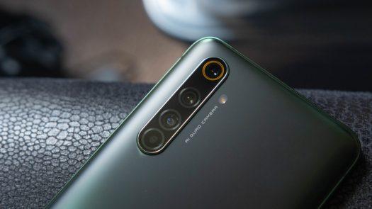 Realme X50 Pro 5G Camera module at an angle