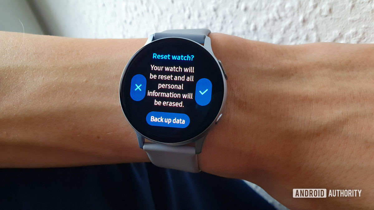 Восстановление заводских настроек Samsung Galaxy Watch Active2