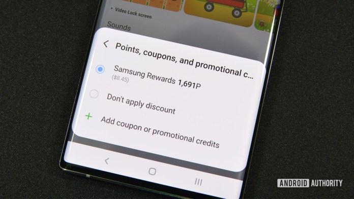 Samsung Rewards Redeem Theme STore