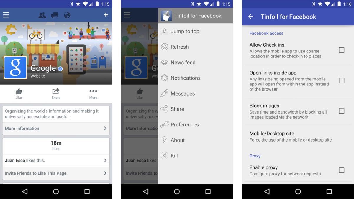 Скриншот Tinfoil для Facebook 2020