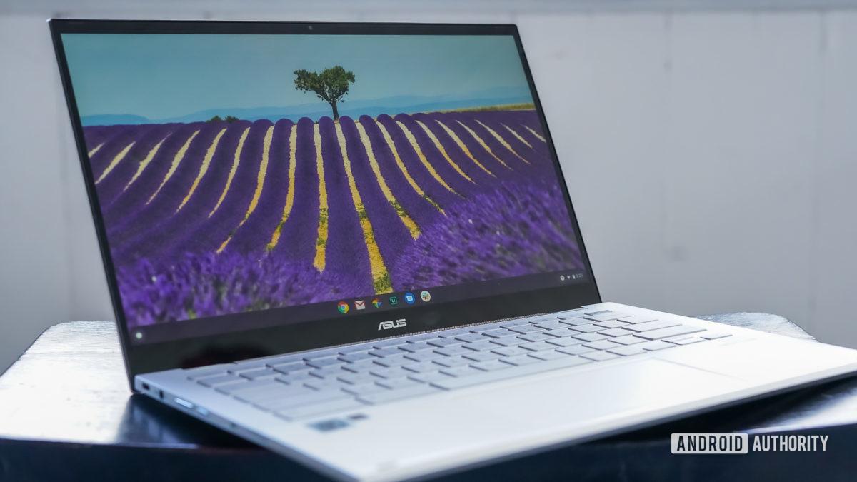 Asus Chromebook Flip C436 analisa o perfil frontal esquerdo