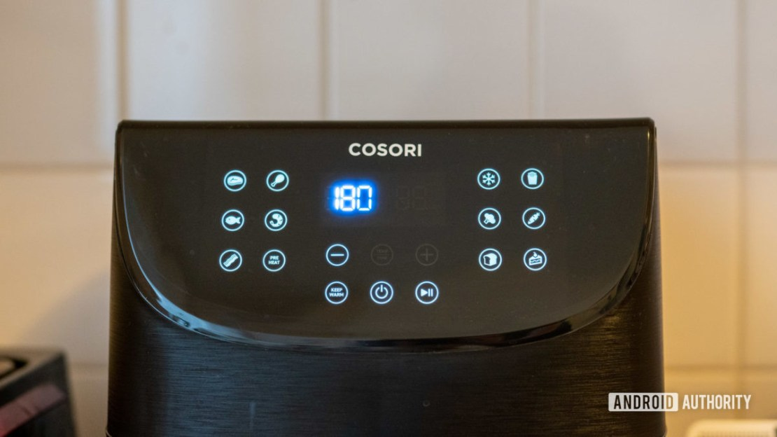 Cosori Smart Air Fryer buttons front