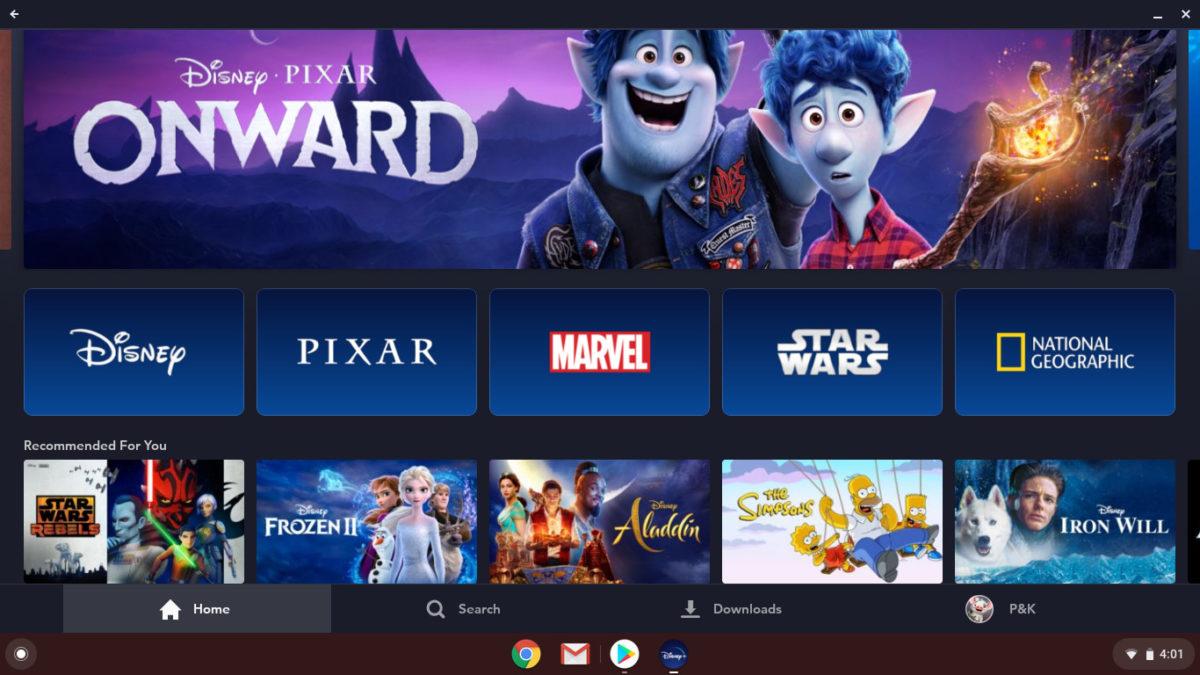 Disney Plus на Chromebook