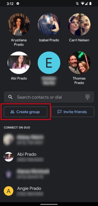 Групповой вызов Google Duo 3