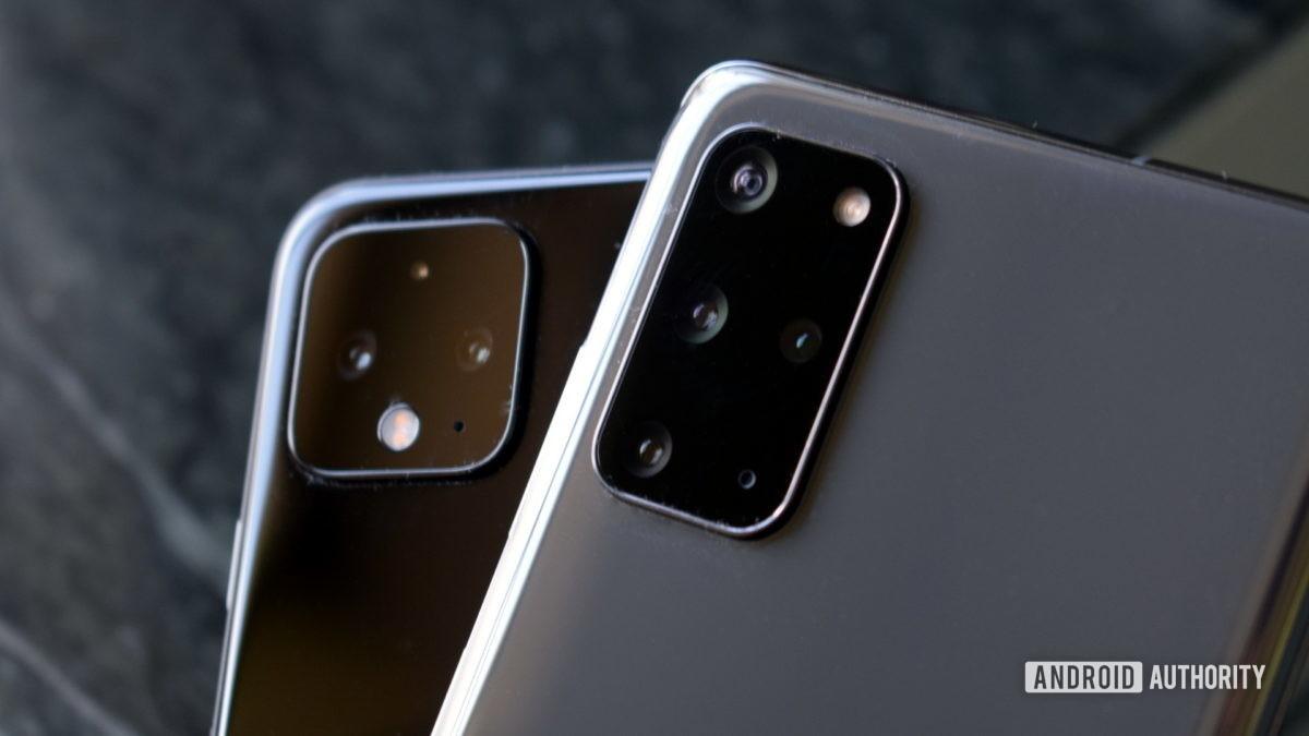 Google Pixel 4 против Samsung Galaxy S20 Plus