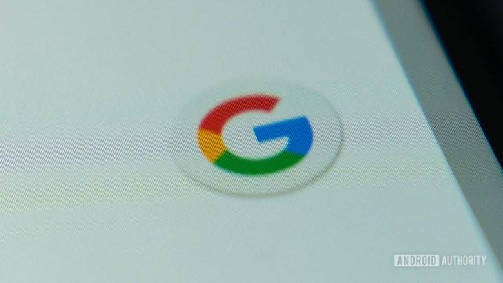 Google logo on the screen