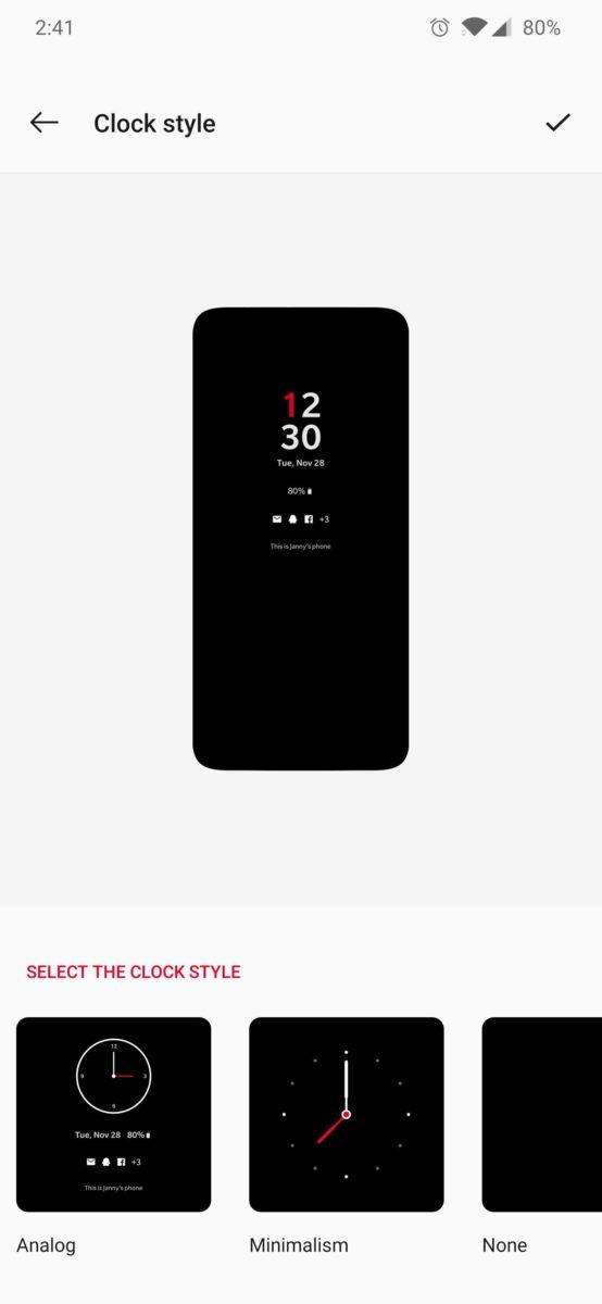 Oxygen OS Clock Options