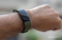 Realme Band wrist shot with display on