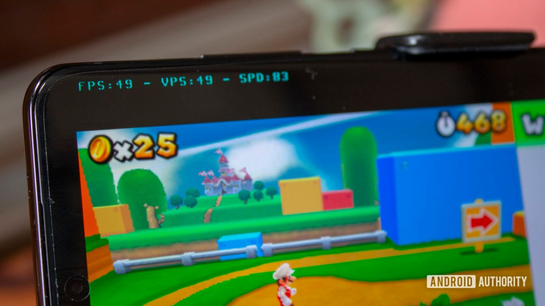 Samsung Galaxy S20 Ultra Nintendo 3DS Emulation Super Mario 3D Land FPS