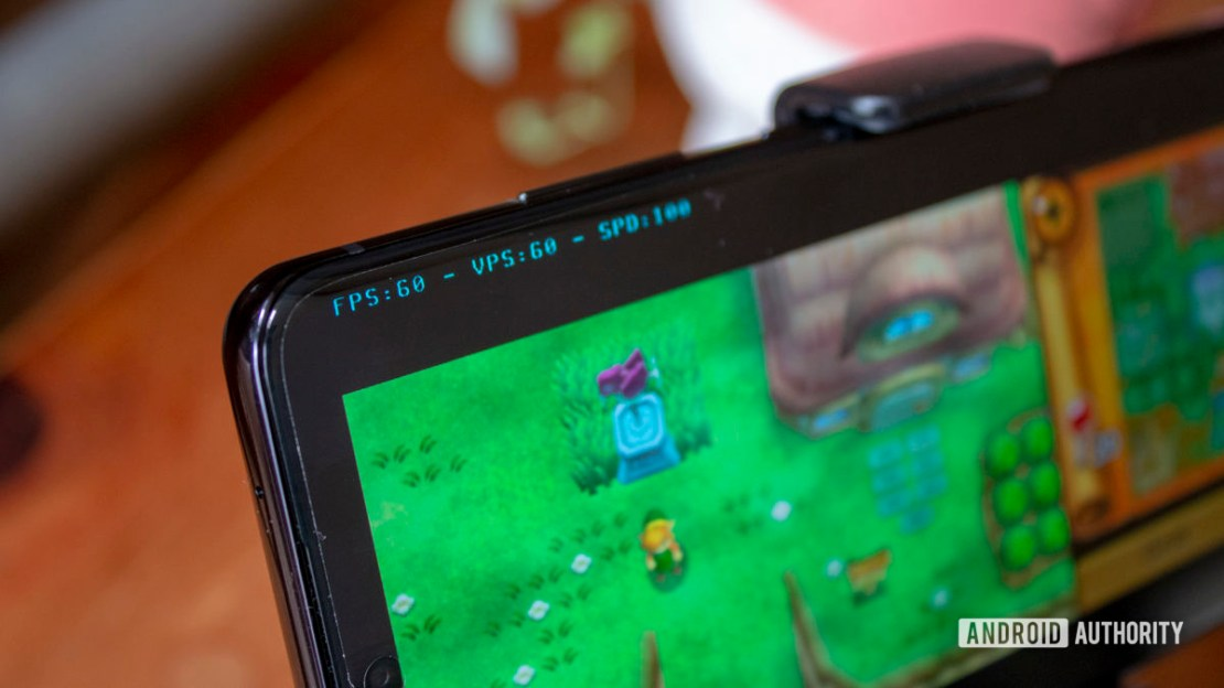 Samsung Galaxy S20 Ultra Nintendo 3DS Emulation Zelda Link Between Worlds FPS
