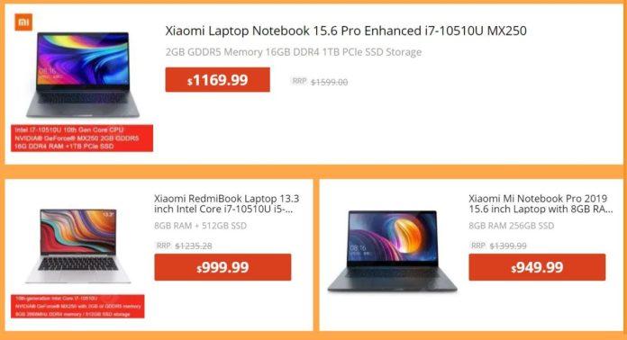 Xiaomi Laptop Deals Gearbest