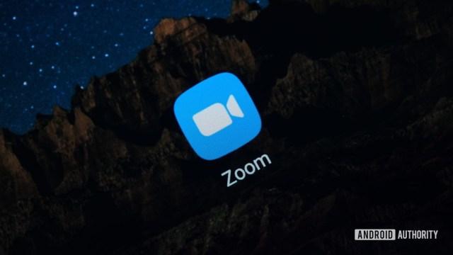 Zoom App logo on phone