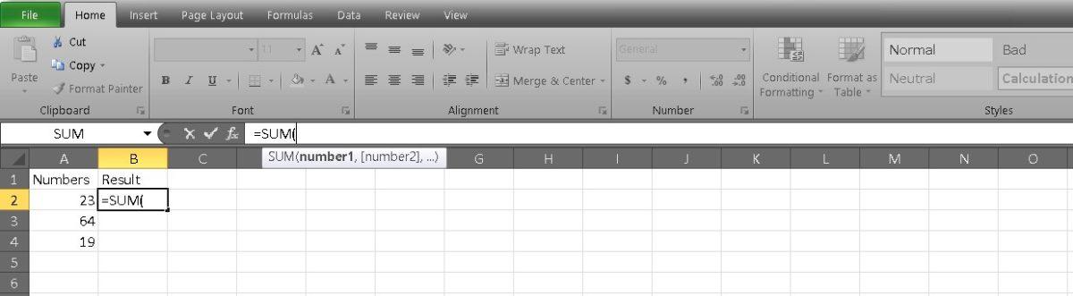 добавить ячейки в Excel 3