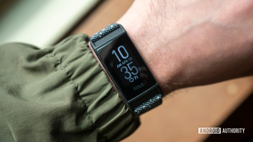 fitbit charge 4 review watch face on wrist 1