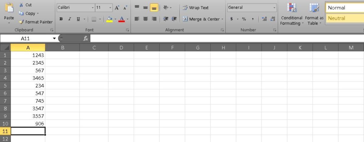 Столбец сумм в Excel 2