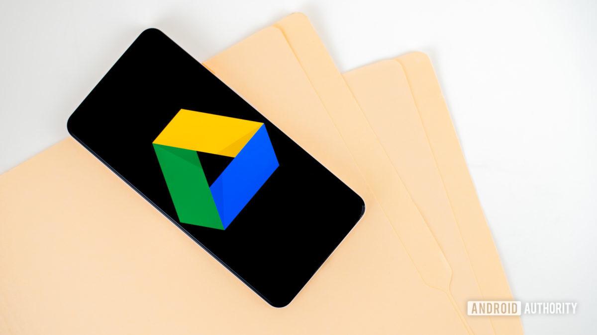 Логотип Google Диска на смартфоне stock photo 1