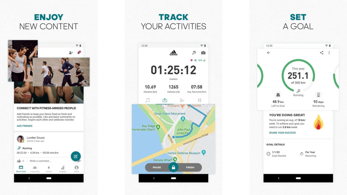 Runtastic by adidas screenshot 2020